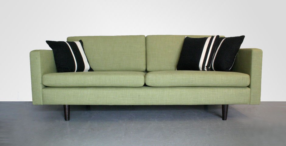 Classic contemporary-style 2-seater sofa
