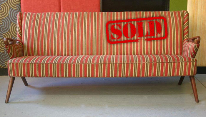 danish sofa sold