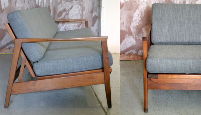 Timber framed, Australian, 70s fold out bed settee